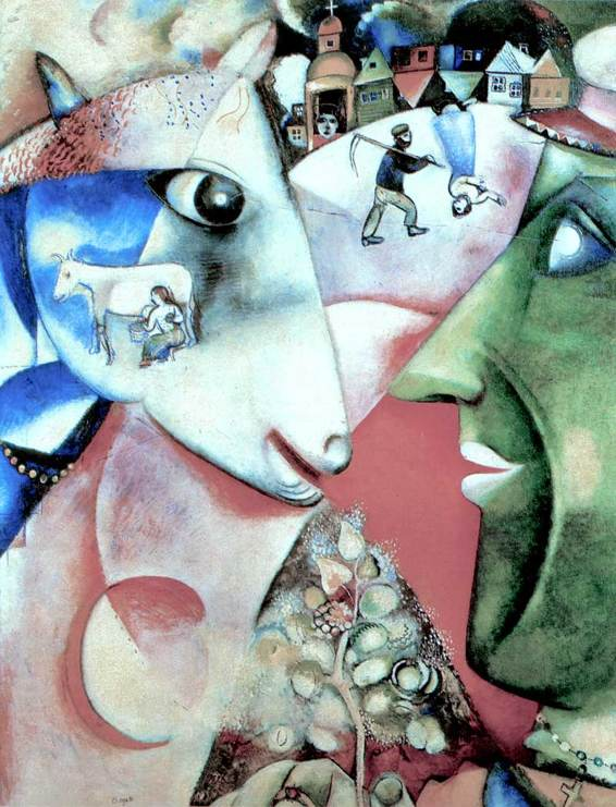 Marc Chagall,I and the Village, 1911.jpeg